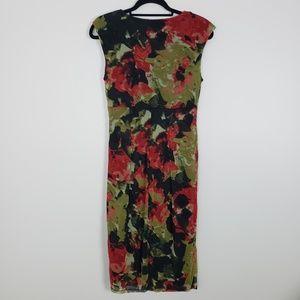 London Times sheath dress, empire waist, ruching